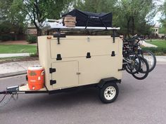 After Ryan finished building his super-sized Explorer Box Camping Trailer on a Harbor Freight bolt-together frame, he loaded up the family for a 26 day, 4000 mile Trailer Support Adventure! Check out his build thread at http://tventuring.com/trailerforum/thread-621.html