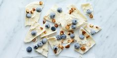 A fun, high-protein frozen bark that you can customize however you want. This recipe calls for blueberries, almonds, and coconut, but switch it up all summer long with your favorite fruits, nuts, and seeds. Get the recipe.