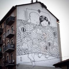 Meet Millo, The Street Artist Who Paints Massive Monochromatic Murals Around Italy