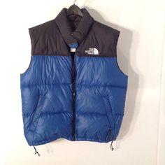 Vintage North Face Puff Down Vest Mens Size X-Large Black/Blue Two Tone Snow Ski #NorthFace #Vest
