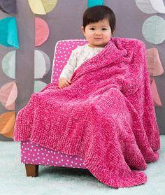 Velvety Basketweave Baby Blanket