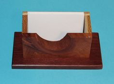 Handcrafted Cedar Knothole Business Card Holder, Desk Organizer, Desk Storage, C112 by woodhut on Etsy