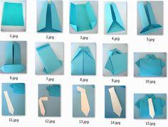 como empacar una camisa para el dia del padre | Origami paso a paso: Camisa con corbata | Manualidades de hogar