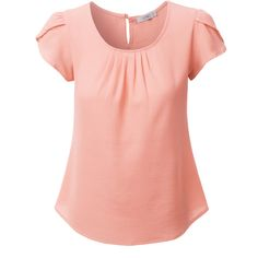 Step out this season in this loose short sleeve chiffon blouse top. Made from a lightweight and ultra soft chiffon material for all day comfort. Wear this ch…