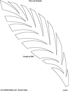 Image detail for -To make the palm leaves, increase the leaf pattern on the ...