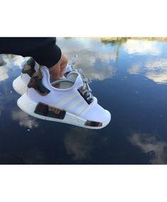 346d5d1e60c9c Adidas NMD R1 White Camo Green Brown Shoes Adidas Nmd R1