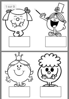 Mr Men Little Miss, Monsieur Madame, Man Birthday, Snoopy, Learning, Kids, Fictional Characters, Templates, Education