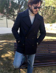 Peacoat López Aragón. #Peacoat #lana #winter #styleman