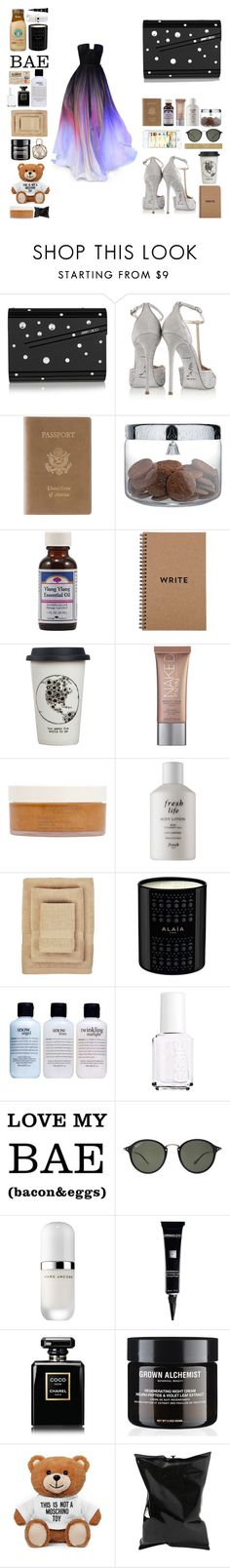 """""""Sem título #12005"""" by nathsouzaz ❤ liked on Polyvore featuring Elie Saab, Jimmy Choo, René Caovilla, Royce Leather, Alessi, Ylang Ylang, Natural Life, Urban Decay, African Botanics and Fresh"""