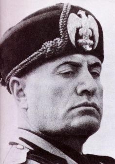 Cruel Dictator Benito Mussolini. Emotionless Face. Sociopath.