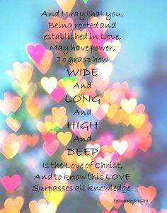 EPHESIANS 3:16 - 19