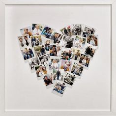 An alternative to canvas prints is this lovely framedheart shaped collagefrom Minted ...