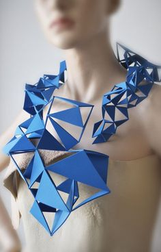 Miette jewels - geometric art necklace