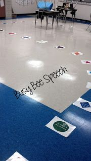 Busy Bee Speech: Giant Game Board Fun with Freebie!!