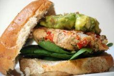 Salmon Avocado Burger - Simple Recipes