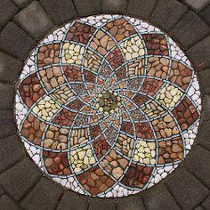 Holland park in Surrey, BC Mosaic Walkway, Mosaic Pots, Pebble Mosaic, Mosaic Wall Art, Mosaic Diy, Mosaic Crafts, Mosaic Projects, Mosaic Glass, Mosaic Tiles