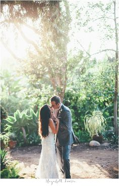 Wedding Photo.  San Diego Botanic Garden.