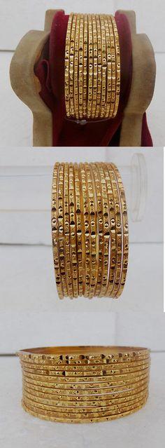 Bracelets 98509: Ethnic 12Pc Indian Fashion Jewelry Bracelet Party Wear Golden Bangles Set 2.8* -> BUY IT NOW ONLY: $12.5 on #eBay #bracelets #ethnic #indian #fashion #jewelry #bracelet #party #golden #bangles Bangle Box, Jewelry Bracelets, Bangles, Indian Fashion, Party Wear, Special Occasion, Ethnic, Fashion Jewelry, How To Wear