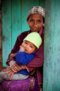 This mother and son live in West Bengal, in northeastern India.