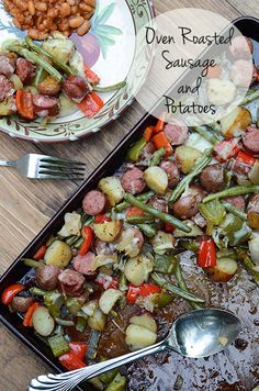 This Oven Roasted Smoked Sausage and Potatoes dish is a flavorful, one-pan meal…