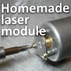 DIY focusing LASER laser module using DVD burner lens and LASER diode. Not overly high tech, but useful. Do not look into beam with remaining good eye and ALL other standard LASER warnings apply. Diy Electronics, Electronics Projects, Electronics Components, Computer Projects, Science Projects, Projects To Try, Science Experiments, Gravure Laser, Electrical Projects