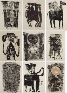 JEAN DUBUFFET MATIÈRE ET MÉMOIRE, 1944 Ensemble de 27 lithographies # printmaking