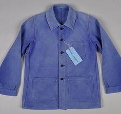 "'60s-'70s ""Bleu de Travail"" French Work Jacket"