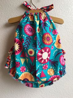 Sierra Flowers Ruffled Baby Girl Romper by ALittleArrow on Etsy