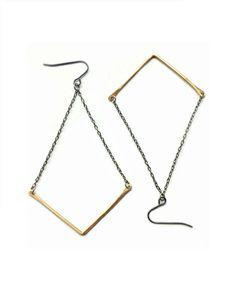 The Chevron Drop Earrings by JewelMint.com, $29.99
