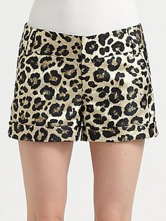 Alice + Olivia Leopard Cady Cuff Short