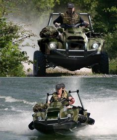 quadski...Want: from land to sea transforming vehicle