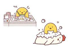 洗い物をする下っ端ひよこ
