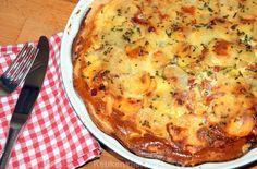 Hartige aardappeltaart met spek - Keuken♥Liefde