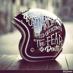 - Helmet Designs - 35 Inspiring Hand Lettered Designs on Every Day Objects Ruby Pavillon Hand Paint by Brusco. Retro Motorcycle Helmets, Retro Helmet, Vintage Helmet, Motorcycle Gear, Bike Helmets, Lettering Design, Hand Lettering, Ruby Helmets, Harley Davidson