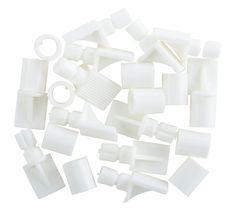 White Plastic Shelf Support   Departments   DIY at B&Q