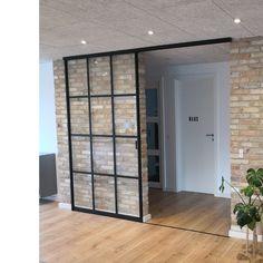 Diy Room Divider, Room Divider Doors, Küchen Design, Door Design, House Design, Loft, Cool Doors, Sliding Patio Doors, Home Office Decor