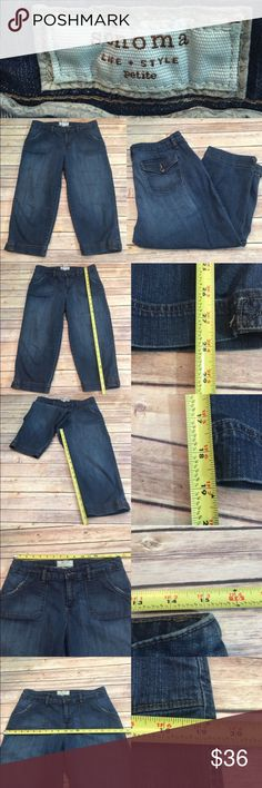 💗Size 12P Sonoma Petite Denim Jean Capri Pants Measurements are in photos. Normal wash wear, no flaws. B2  I do not comment to my buyers after purchases, due to their privacy. If you would like any reassurance after your purchase that I did receive your order, please feel free to comment on the listing and I will promptly respond. I ship everyday and I always package safely. Thanks! Sonoma Jeans Ankle & Cropped