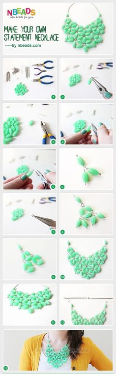Fashion, peace and vogue!: DIY!!! GREEN NECKLACE!!  BY: nbeads.com