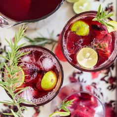special Hibiscus and Passion Fruit Ice Tea with Rosemary and Lime ...