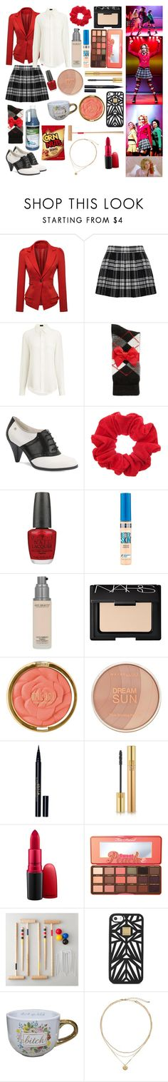 """""""Heather Chandler (Heathers)"""" by castiel-phantomhive ❤ liked on Polyvore featuring WithChic, Alice + Olivia, Joseph, Charter Club, Bass, OPI, Maybelline, NARS Cosmetics, Milani and Stila"""