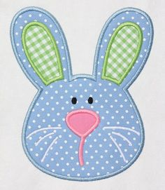 Love this bunny applique for Easter!