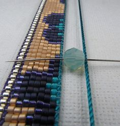 Beads Beading Beaded, with Erin Simonetti: Channeling my way through...Stage Two, of this cuff!