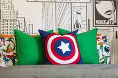 Modern Super Hero Kids Room Bed Pillows