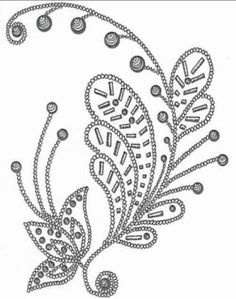 Small Flower Spray pattern for bead embroidery Brush Embroidery, Tambour Embroidery, Silk Ribbon Embroidery, Hand Embroidery Patterns, Beading Patterns, Embroidery Stitches, Machine Embroidery, Tambour Beading, Bordados Tambour