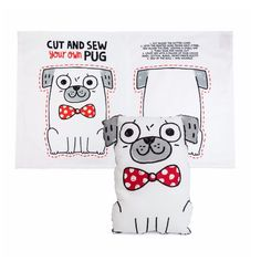 Tea towel or Snuggle cushion, the Puglet way. #diy #gemmacorrell . In store. Cut and Sew Pug tea towel . Coming to Popup @ Wild Barley, theGourmet store, 25 Yong Siak St, 25 March 10am to 5pm . #sniffoutsomethingspecial #gingerandbear