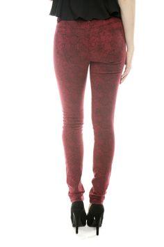 red leopard pants