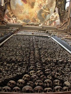 Sedlec Ossuary - Church of Bones,   Prague, Czech Republic, not exactly  the usual interior design I had in mind, but it is amazing, rather grim but strangely beautiful