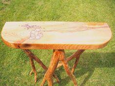 Petoskey stone inlaid table