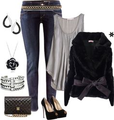 """""""Fall fashion - Night weekend out."""" by sylviajaqueline on Polyvore"""
