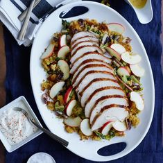Smoked Turkey Breast with Cornbread Stuffing and Chicories | Williams-Sonoma